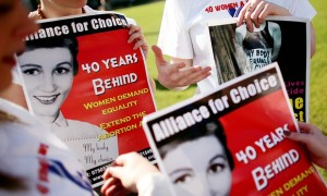 An Alliance for Choice abortion rally in Parliament Square, London, in 2008. 'Such is the macho, sectarian politics of Northern Ireland that the province remains saddled with Victorian law.' Photograph: Graeme Robertson for the Guardian